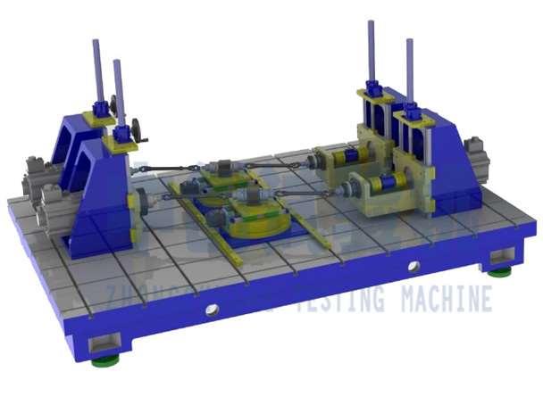 转向操纵杆扭转耐久试验设备结构原理